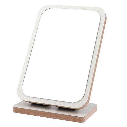 MERIGLARE Espejo De Maquillaje De Encimera Ajustar ángulo Espejo Cosmético Plegable Marco De Madera - Estilo 4, Individual