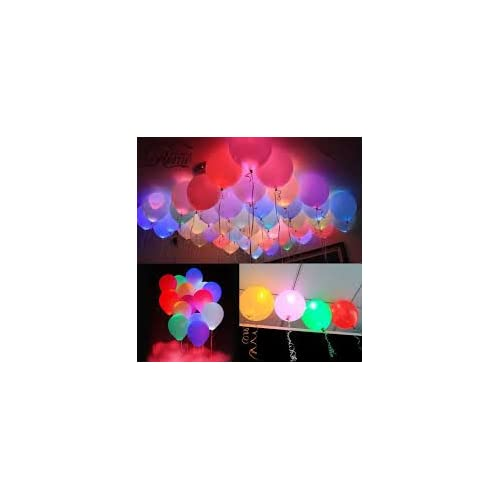 Sr Gifts Pack Of 25 Printed Led Balloons -Assorted Designs