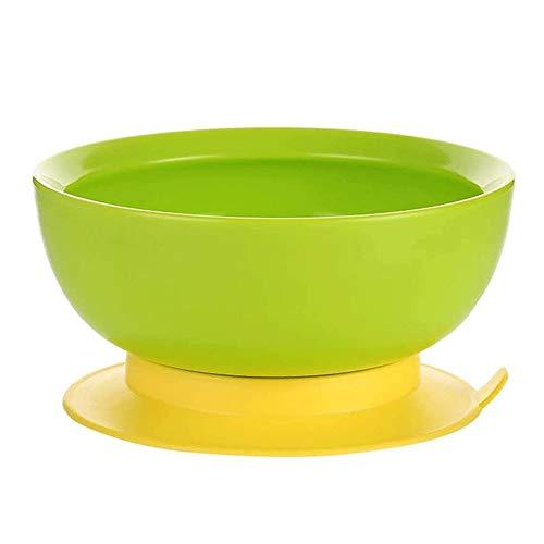Bdesign Vajilla Infantil del bebé del lechón bebé Bowl anticaída Antideslizante Suplemento Fuente alimentaria del bebé de Comer del Plato fácil de Llevar (Verde)