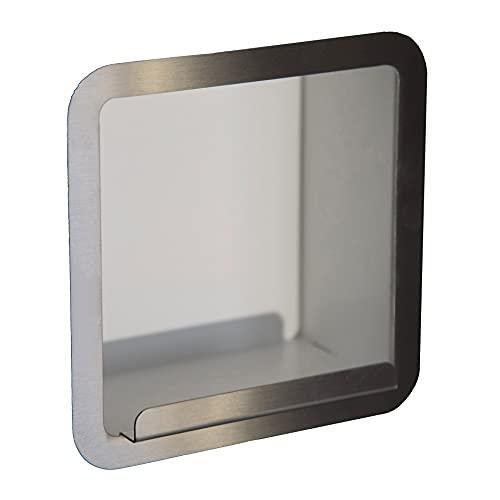 Porta rotolo   Porta carta igienica bagno a muro a incasso , acciaio inox, portarotolo , COMPONENDO , Made in Italy (Bianco)