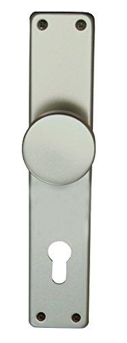 Alpertec 40364130K1 Aluminium Tanja - Knopfschild silber eloxiert PZ 72 mm Knopf Ø 51 mm Drückergarnitur Türdrücker Türbeschläge Neu
