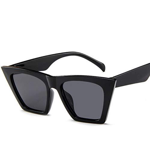 PrittUHU 2021 Vintage Gafas de Sol Mujeres/Hombres Color Color Lente Lady Sun Glasses Classic Outdoor Travel (Lenses Color : Black)