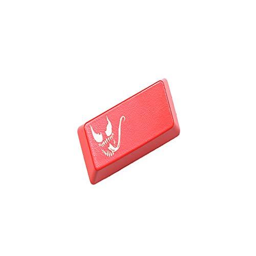 North cool Tastatur-Return-Taste Rot Schwarz Venom Mechanische Tastatur Persönlichkeit Light Key Cap (Farbe : Rot)