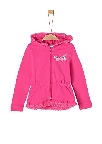 s.Oliver Junior Mädchen Sweatjacke Sweatshirt, 4464 Pink, 116/122/REG