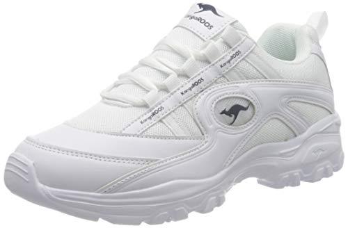 KangaROOS Kw-Chunky, Zapatillas para Mujer, Blanco (White 0000), 42 EU