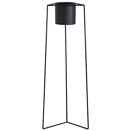 ルームアンドホーム 鉢カバー スタンド 観葉植物 ガーデニング Cタイプ モノ 大 ブラック 22×20×60cm