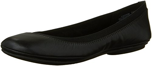 Bandolino womens Edition Leather flats shoes, Black, 9.5 US
