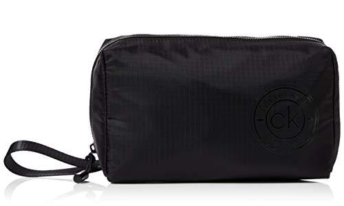 Calvin Klein - Availed Washbag, Organizadores de bolso Hombre, Negro (Blackwhite Black), 1x1x1 cm (W x H L)