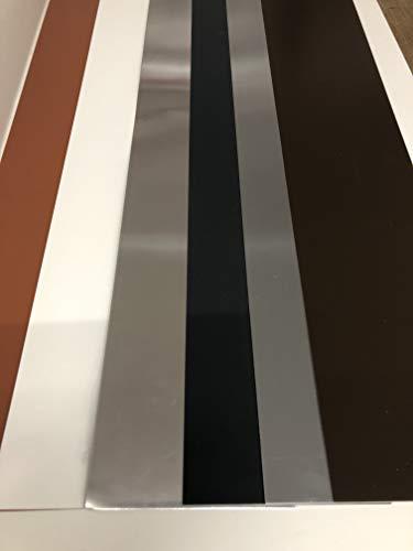 Blechzuschnitte Flachblech 2 m Alublech Titanzink (Alu anthrazit RAL 7016 0,8 mm, 200 mm)