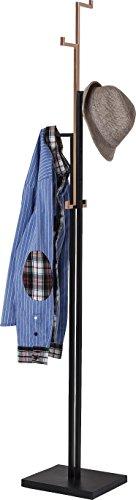 Kare Design Garderobenständer Casino Copper, moderner Kleiderständer, freistehende Garderobe mit 6 Haken, Flur, Schwarz, Kupfer, (H/B/T) 177x30x25cm