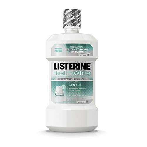 Listerine Healthy White Gentle Anticavity Mouthwash, Clean Mint, 16...