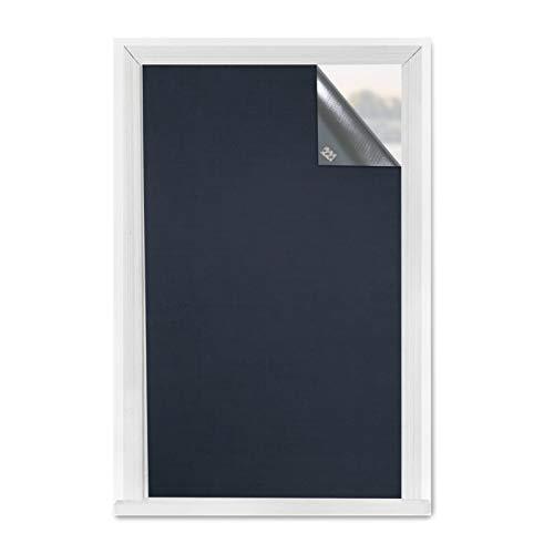 Greatime Tragbare 100% Verdunkelungsrollo mit hochwertigem 3M-Kleber, Fenster Verdunkelung, Sonnenschutz Fenster, reflektieren Licht, isolieren dieWärme,dämmen den Lärm (1.5x1.85M Marine)