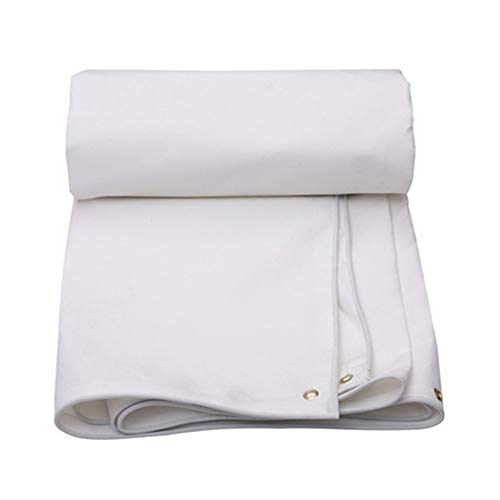 FYYONG Lienzo, Lona a Prueba de Lluvias, Lona Impermeable de toldos de protección Solar, Tela de Dosel de Lona de Lona, Lona Gruesa (Color: Blanco, tamaño: 6x4m)