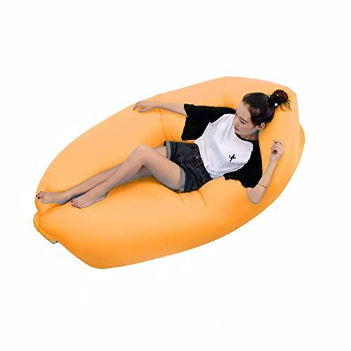 Beautiful girl's shop Aufblasbares Bett Lazy Air Cushion Set Aufblasbare Luftkissen-Matratze Aufblasbare Luftkissen-Luftmatratze (Farbe : Orange)