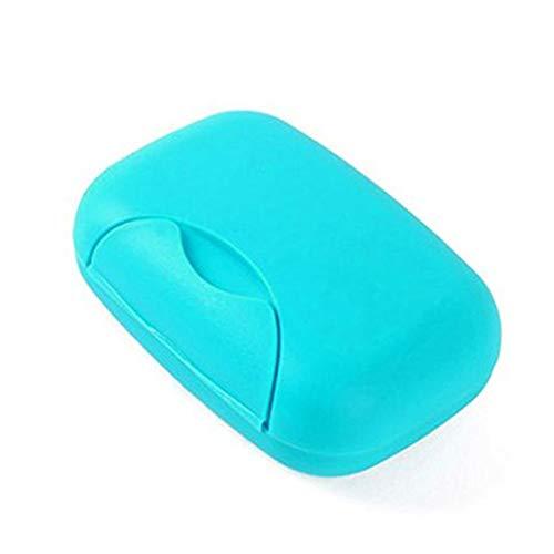 DDG EDMMS boîte de conteneur Porte-Savon boîte en Plastique Maison Bleu Voyage de Camping en Plein air randonnée (Bleu)