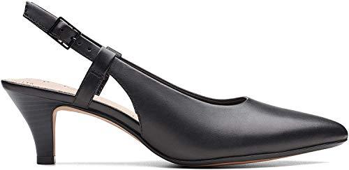 Clarks Damen Linvale Loop Pumps, Schwarz (Black Leather), 41 EU