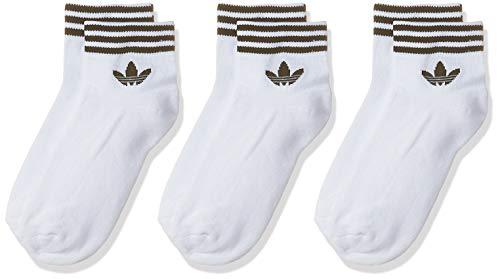 adidas Herren Socken 3 Paar Trefoil Ankle, White/Black, 35-38, EE1152