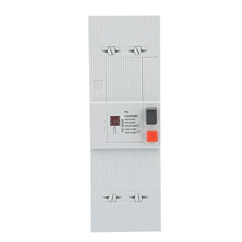 Ivaank Disyuntor, 30-60A 2 Polos 50Hz/60Hz Interruptor de Aire de protección de disyuntor de bajo Voltaje