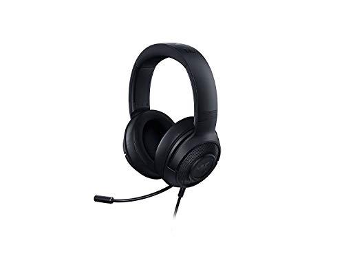Razer Kraken X Cuffie Da Gioco Leggere per PC, Mac, Xbox One, PS4 e Switch con Imbottitura Fascia Per la Testa, Audio Surround 7.1, Nero