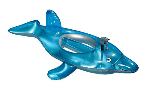 Inflatable Dolphin Pool Float with Squirt Gun | Pool Floats for Toddlers Age 37 | Pool Water Gun Battles