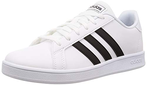 adidas Grand Court K, Scarpe da Tennis, Blanc Noir Blanc, 36 2/3 EU