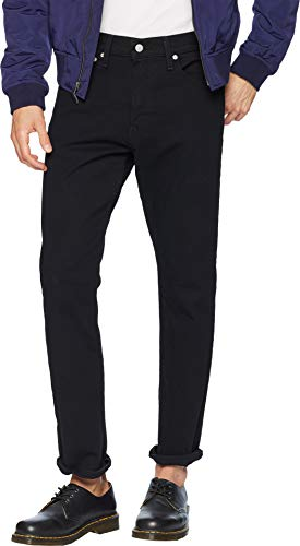 Calvin Klein Men's Straight Fit Jeans, Forever Black, 32W x 34L