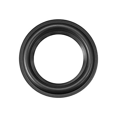 """sourcing map 4.5"""" 4.5inch Speaker Rubber Edge Surround Rings Replacement Part for Speaker Repair or DIY by sourcing map"""