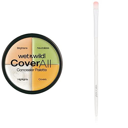 Wet N Wild Concealer Palette + Pinsel – Concealer Set vierfarbig Abdecken, Korrigeren, Neutralisieren & Highlighten