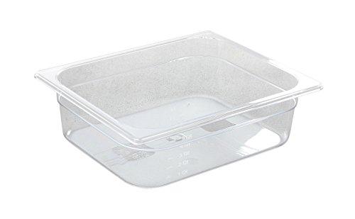 HENDI Gastronormbehälter, Temperaturbeständig von -40° bis 110°C, Skalierung, Geruchs- und geschmackneutral, 6,5L, Polycarbonat, GN 1/2, 325x265x(H)100mm, Transparent