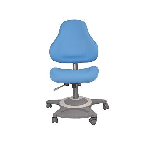 FD FUN DESK Bravo Blue in hoogte verstelbare stoel, bureaustoel voor kinderen, blauw, 650x480x800-970 mm