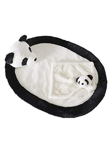 Vertbaudet Geschenk-Set: Panda Schmusetuch + Babydecke weiß/schwarz ONE Size