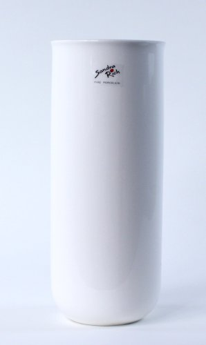 SANDRA RICH, Porzellan- VASE rund ca 26 x 10,5 cm WEISS