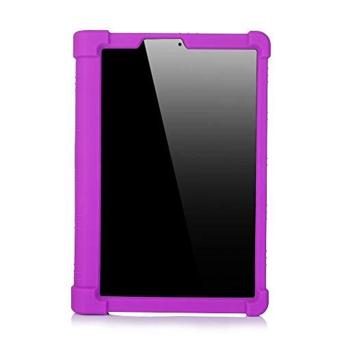 ZETIAN Funda Blanda para Lenovo Yoga Tab5 YT-X705F 2019 Funda de Tableta Inteligente para Lenovo Yoga Tab 5 yt-x705f Funda de Silicona-púrpura_YT-X705F