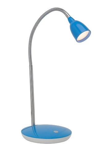 Brilliant Anthony LED Tischleuchte 40cm Flexarm eisen/blau Büro 200 Lumen, LED integriert