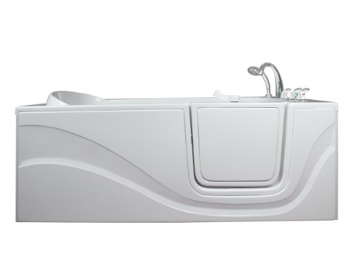 Lay Down Long Hydrotherapy Massage Whirlpool Walk-In Tub Drain Location: Right
