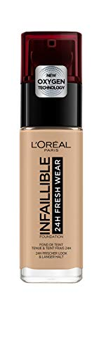 L'Oréal Paris24H Fresh Wear Base de Maquillaje de Larga Duración, Tono 235 Miel/Honey- 30 ml