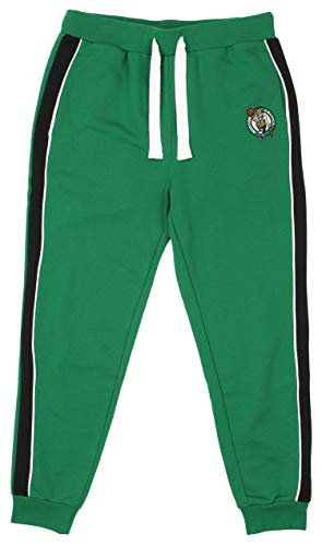 FISLL NBA Men's French Terry Jogger with Piping, Boston Celtics X-Large