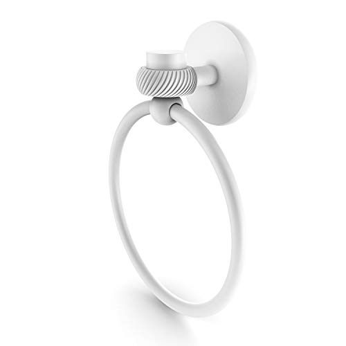 Allied Brass 7116T Satellite Orbit One Collection Twist Accent Towel Ring, Matte White