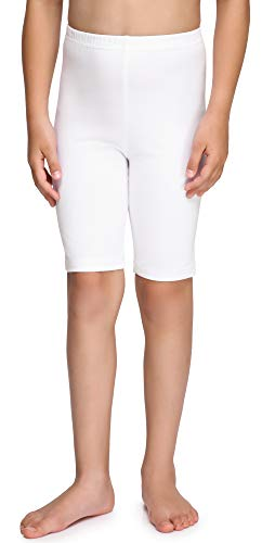 Merry Style Leggings Corti Bambina e Ragazza MS10-227(Bianco, 128 cm)
