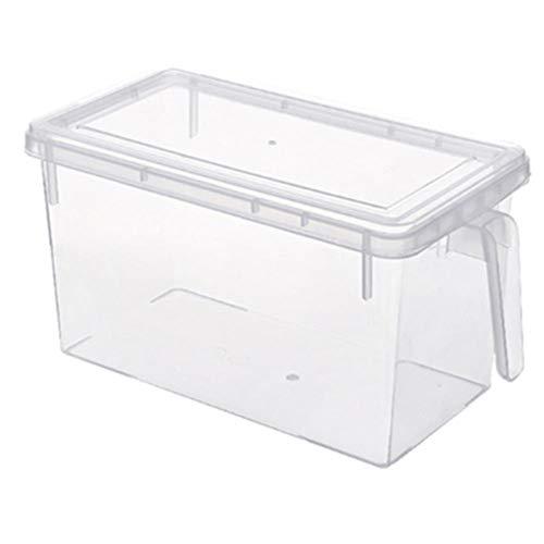 Tarro hermético a prueba de leche en polvo de cocina caja de conservación de alimentos de 4 piezas tipo cajón cajas de almacenamiento para nevera, caja de plástico multifuncional para cocina