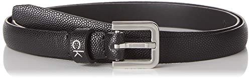 Calvin Klein Damen Ck Essential Belt 1.5cm Gürtel, Schwarz (Black Bax), XX-Klein (Herstellergröße: 75)