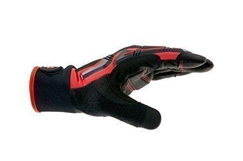 Würth 899400750 0899400750 Pro-Guante mecánico, color rojo y negro, Größe 10