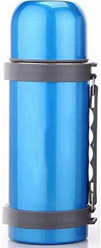 Isolatie Outdoor Grote Capaciteit Cup Theepot Reisfles 304 RVS Warm Water 1200ml Lostgaming (kleur : Blauw)