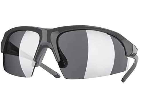 Spoclin - Occhiali da sole polarizzati Crivit con 3 lenti intercambiabili, per ciclismo, corsa, sport, protezione UV 400, anti-vento, per uomo e donna