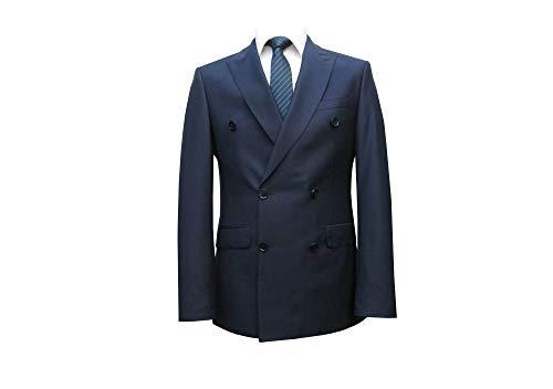 MMUGA 2-Reihige Herren Anzug Taillierte Schnitt dunkelblau 66