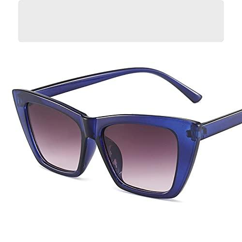 LOPIXUO Gafas de sol Gafas de sol Mujer Moda Jelly Azul Rosa Gafas de sol Señoras Diseñador de lujo SexyEyewear, Azul