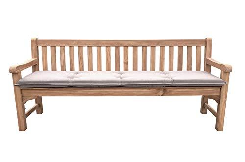 GRASEKAMP kwaliteit sinds 1972 tuinbank teak XL 200 cm met oplage zand tuinmeubelen houten bank parkeerbank