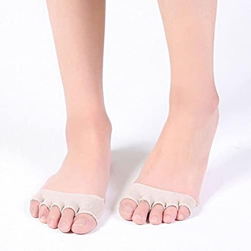 MURUI Wz01 4 unids Antiadherente Calcetines Invisibles Mujeres Tacones Altos Partido de Sandalia No Mostrar Calcetines Verano Half Footie Abre Toe Cocks Cincuenta Cinco Dedos YC0405