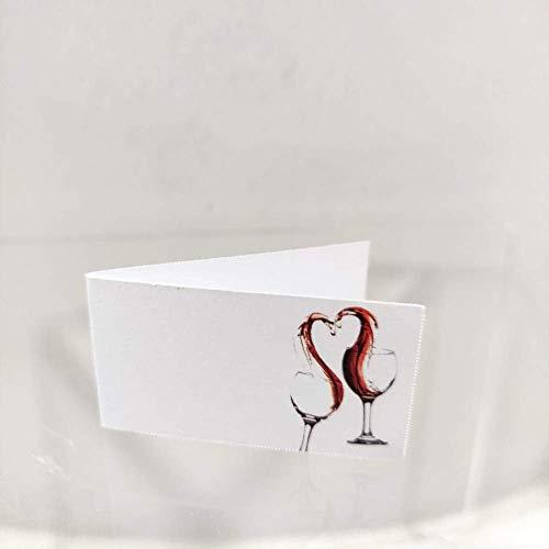 Il Villaggio degli sposi s.a.s. Stampa Inclusa 40 Bigliettini bomboniera Tema Vino