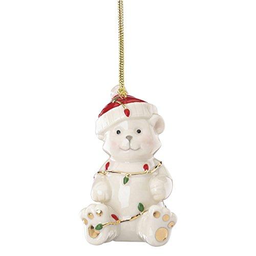 Lenox China Ornaments Tangled Christmas Bear
